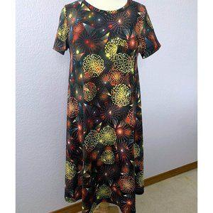 LuLaRoe Carly dress XS NWOT Americana fireworks